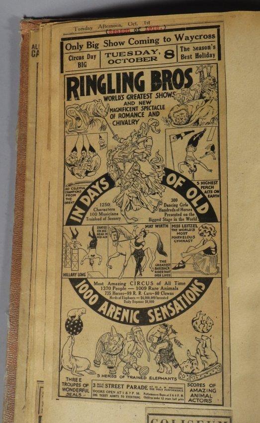 Dip of Death! Circus Scrapbook, Christy Bros + 1889 + - 6
