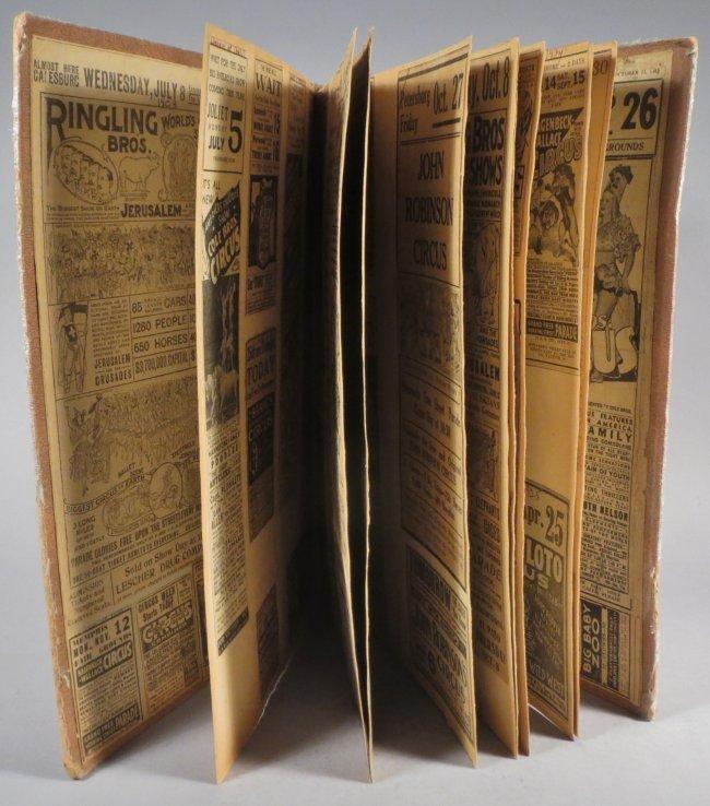 Dip of Death! Circus Scrapbook, Christy Bros + 1889 + - 7