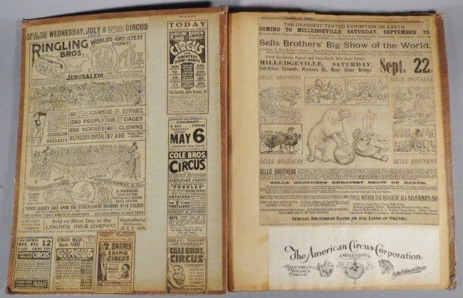 Dip of Death! Circus Scrapbook, Christy Bros + 1889 + - 9