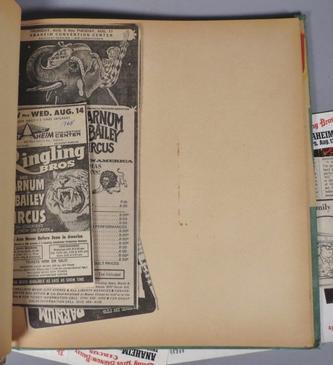 Vintage Circus Scrapbooks 1960s-70s - 7