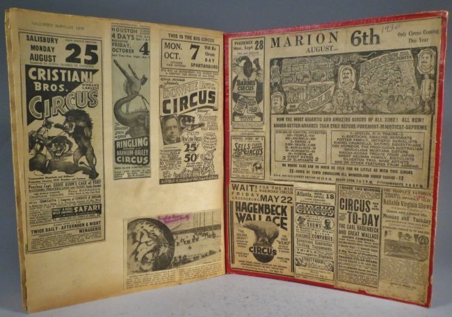 Giraffe Neck Woman! Circus Scrapbook, Gollman Bros 1892 - 9