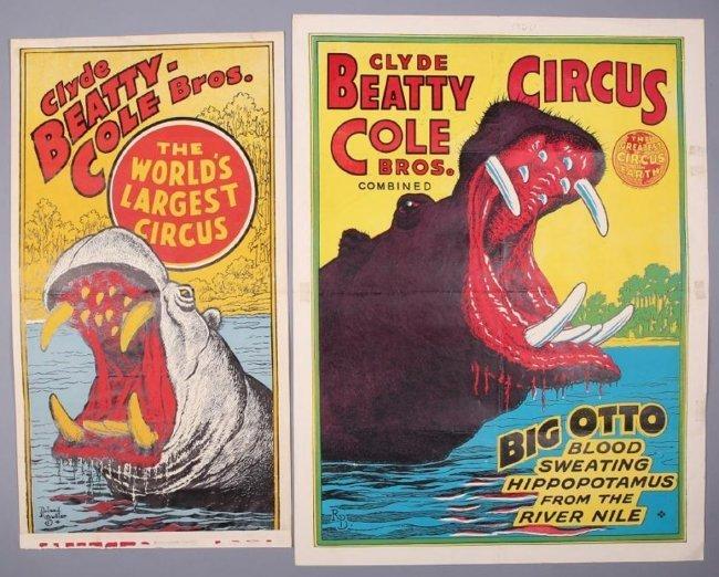 Clyde Beatty-Cole Bros Circus lot of 2, Roland Butler