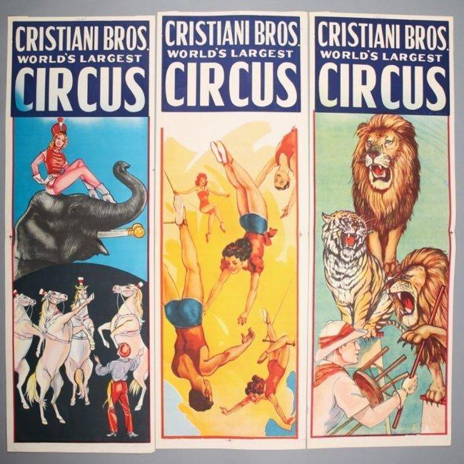 3 Christiani Bros. Circus Posters