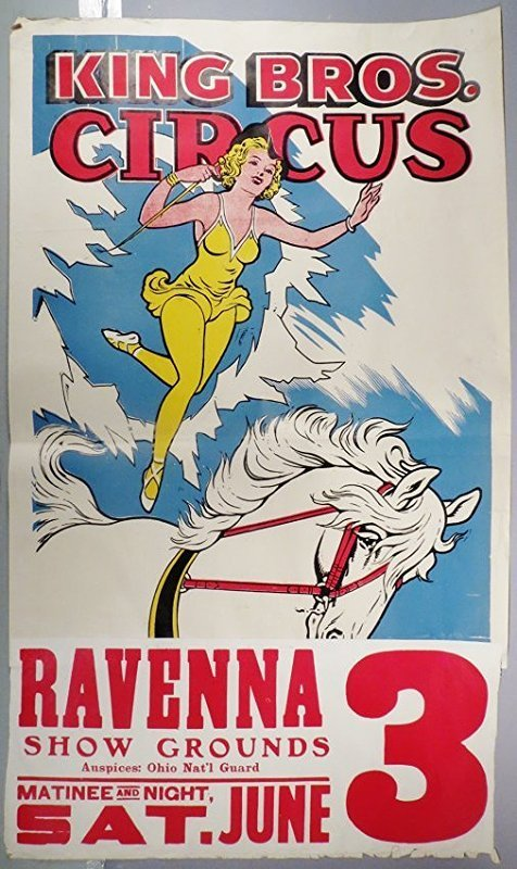Vintage King Bros. Circus Poster
