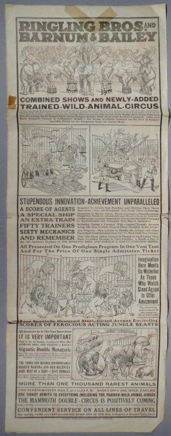 1922 Ringling Bros and Barnum & Bailey Broadside - 2