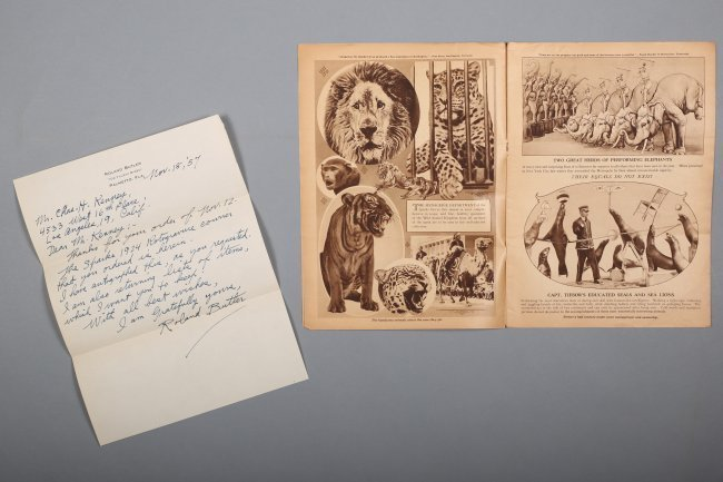Signed Roland Butler Sparks 1924 Circus Program , Plus - 2