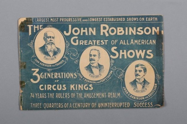1898 Antique John Robinson Circus Program