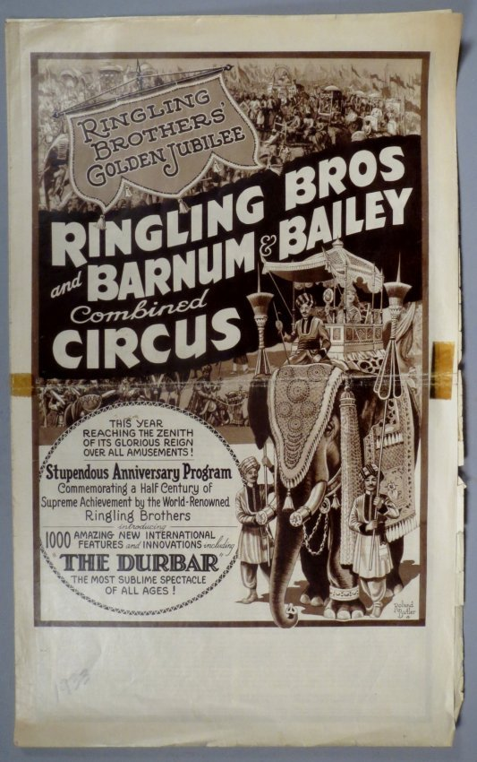 1933 Ringling Bros Barnum Bailey Circus Courier
