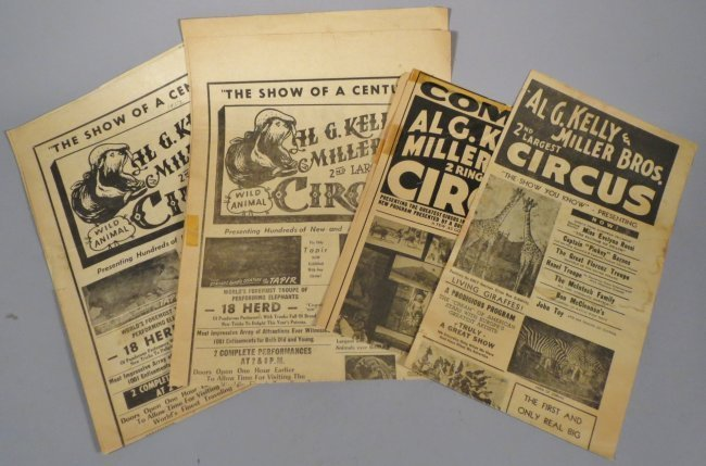 4 Al G. Kelly & Miller Bros Broadsides, 1938-1950