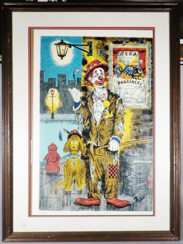 George Crionas Serigraph Off to the Opera