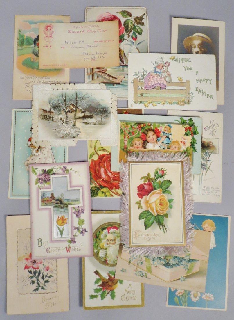 16 Piece Antique & Vintage Postcard lot Holiday &