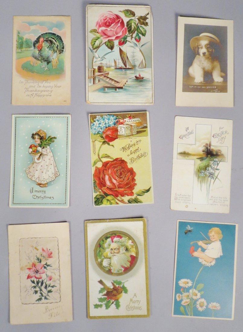 16 Piece Antique & Vintage Postcard lot Holiday & - 2