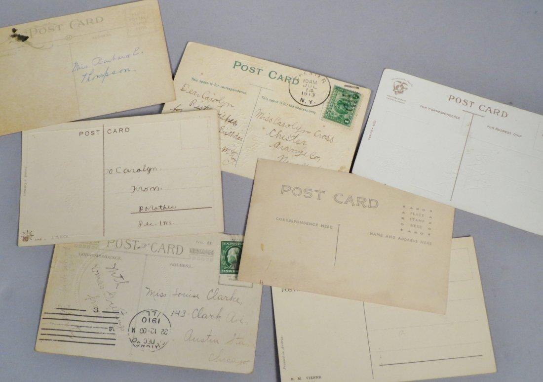 16 Piece Antique & Vintage Postcard lot Holiday & - 3