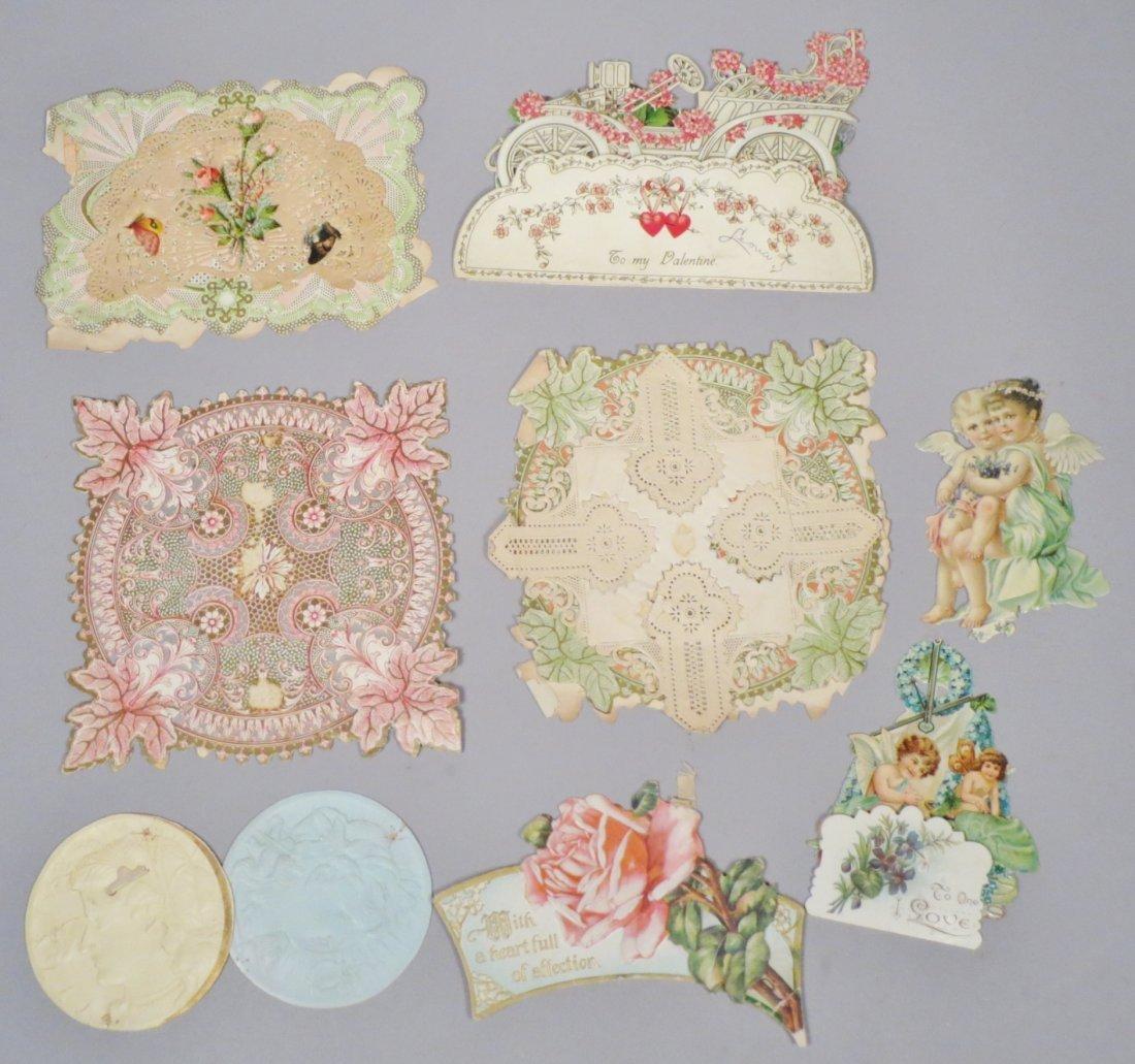 9 piece Victorian card Lot