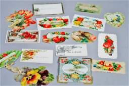 Victorian era place cards