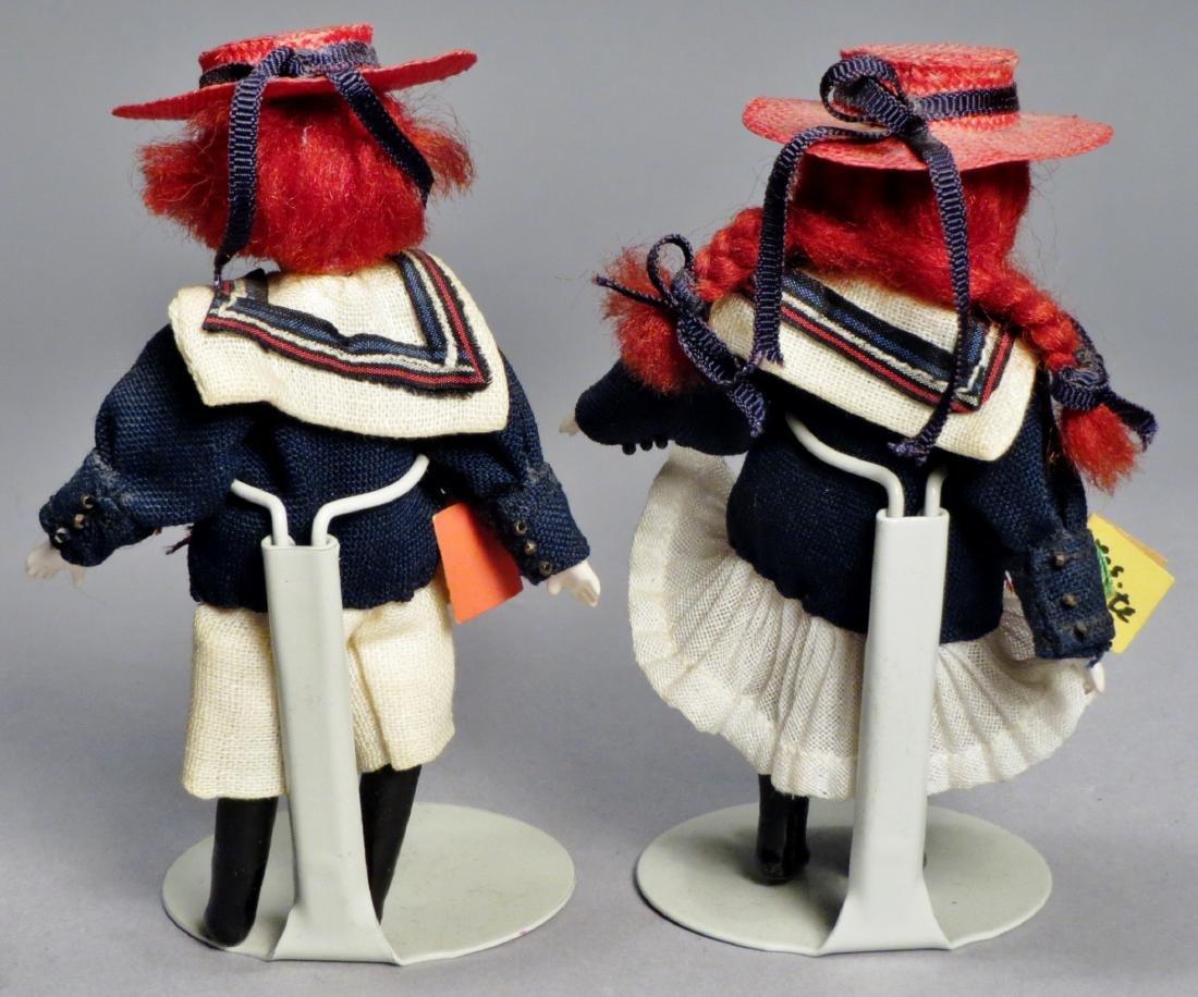 Vintage Pair Les Petite Amis, Dollhouse Dolls - 2
