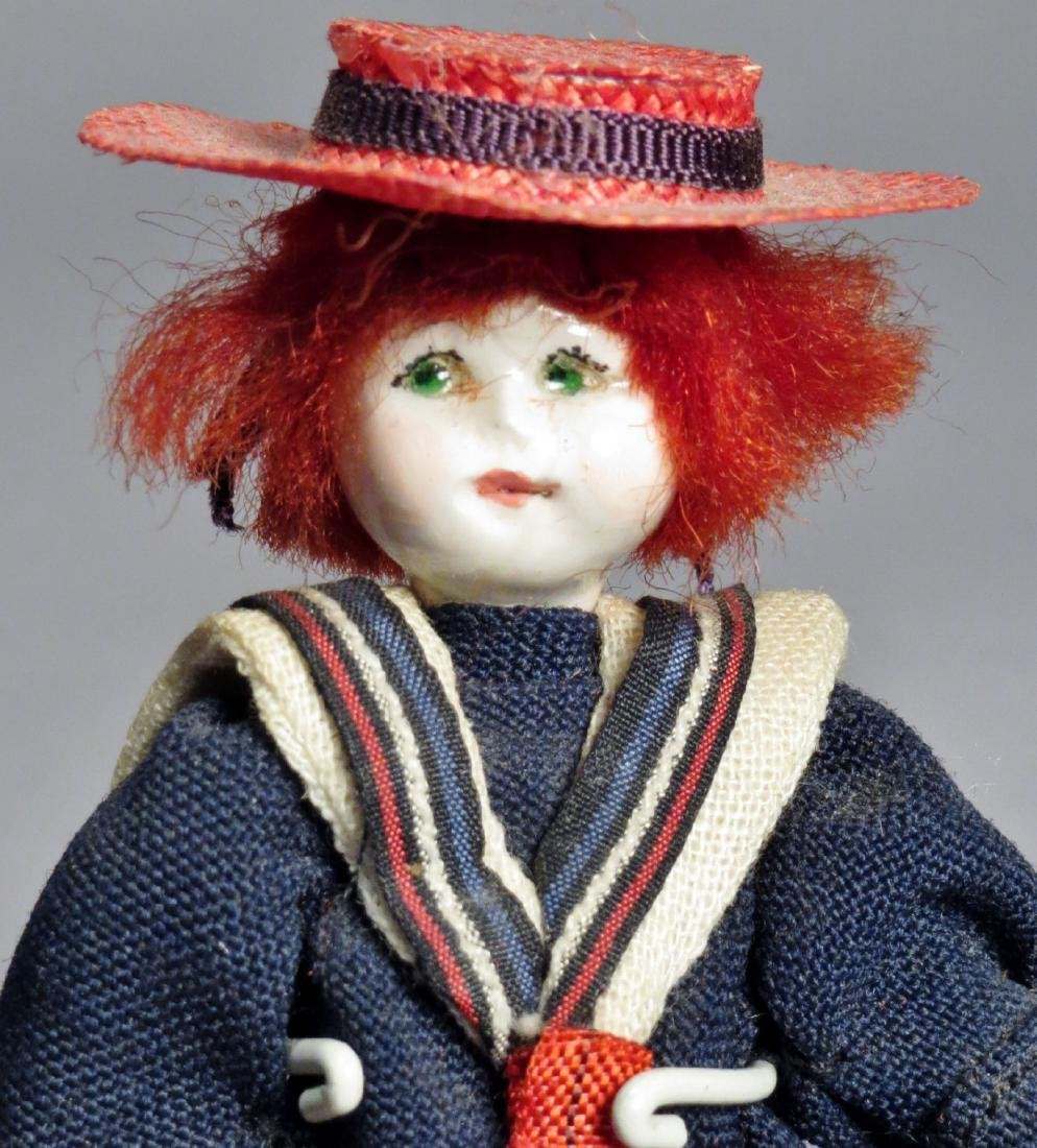 Vintage Pair Les Petite Amis, Dollhouse Dolls - 4
