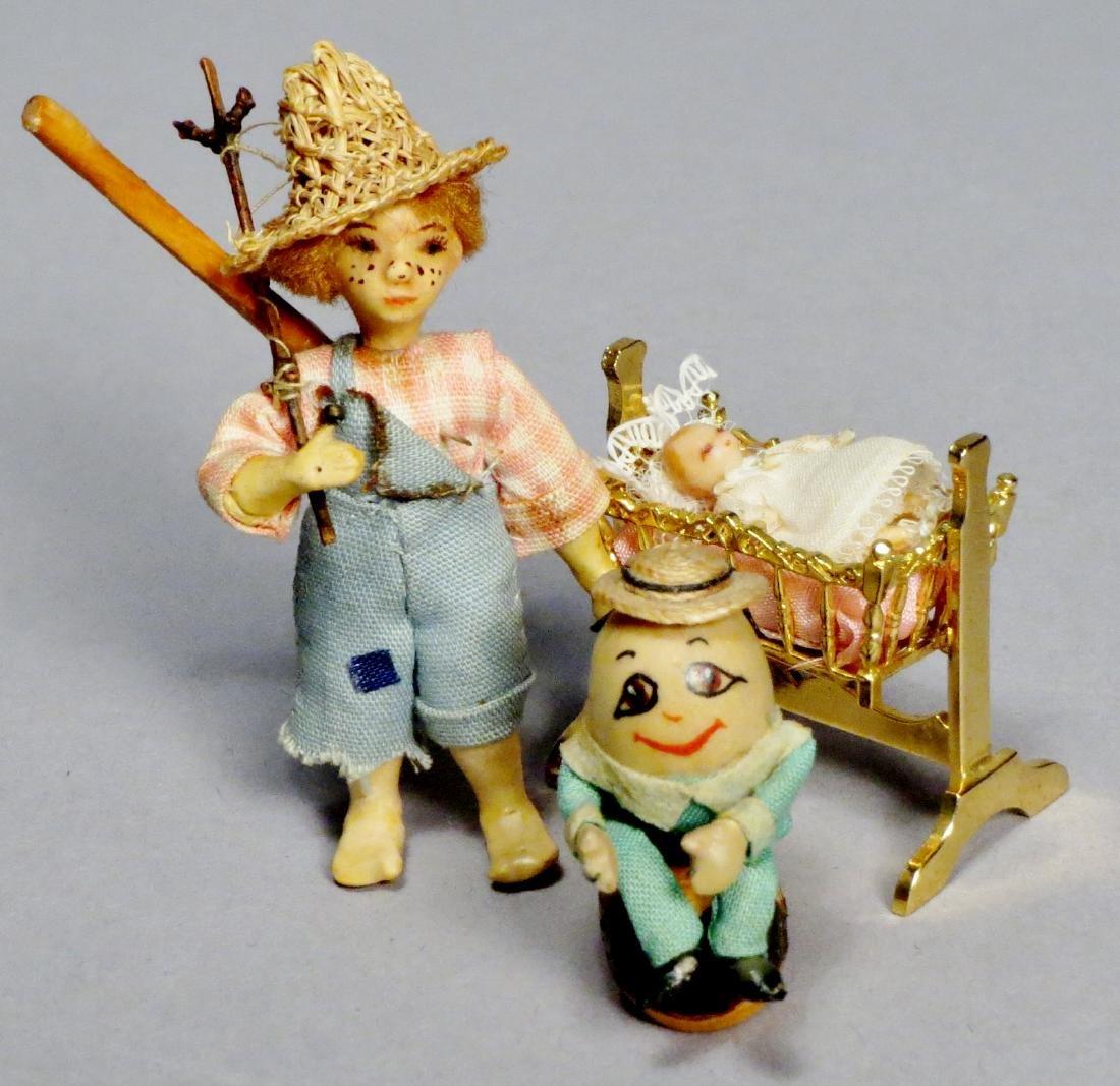 Lot of 3, N.I.A.D.A. Artist Irma Park Miniature Dolls