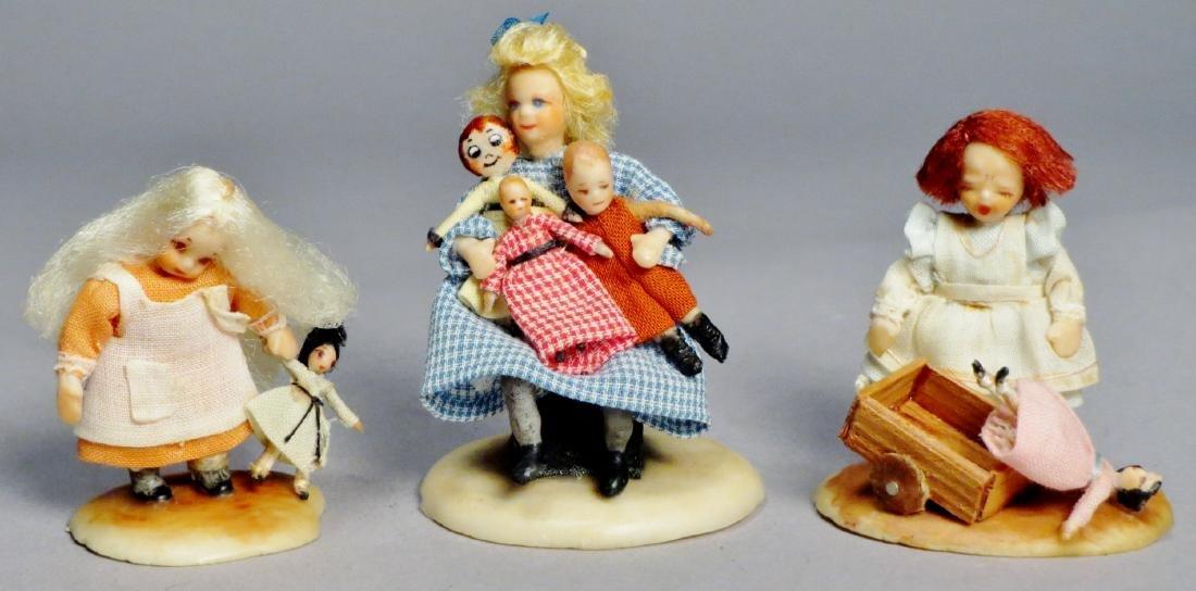 N.I.A.D.A. Artist Irma Park Miniature Wax Dolls with
