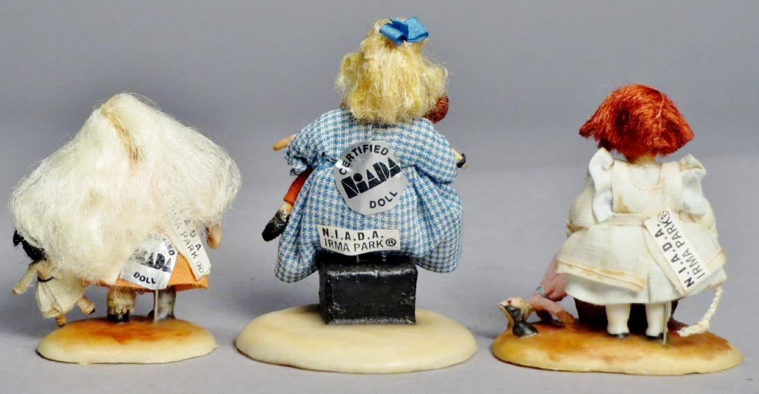 N.I.A.D.A. Artist Irma Park Miniature Wax Dolls with - 2