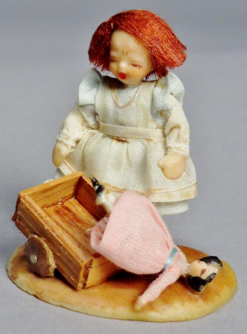N.I.A.D.A. Artist Irma Park Miniature Wax Dolls with - 3