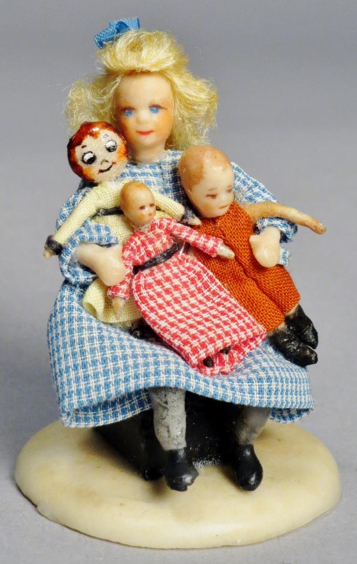 N.I.A.D.A. Artist Irma Park Miniature Wax Dolls with - 4