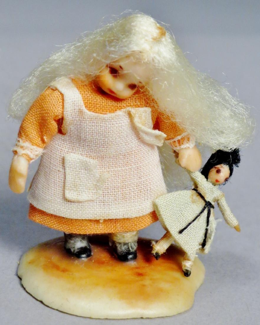 N.I.A.D.A. Artist Irma Park Miniature Wax Dolls with - 6