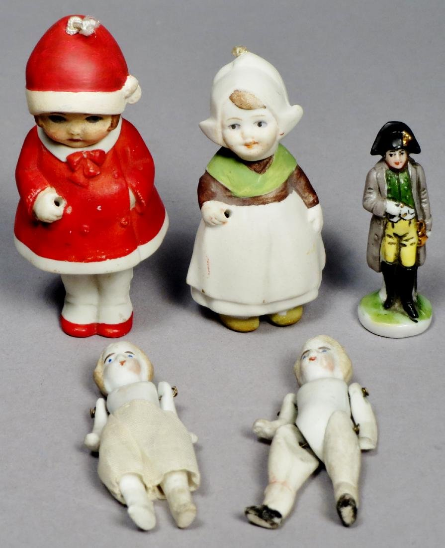 Antique Bisque Doll Lot, Nodders and More