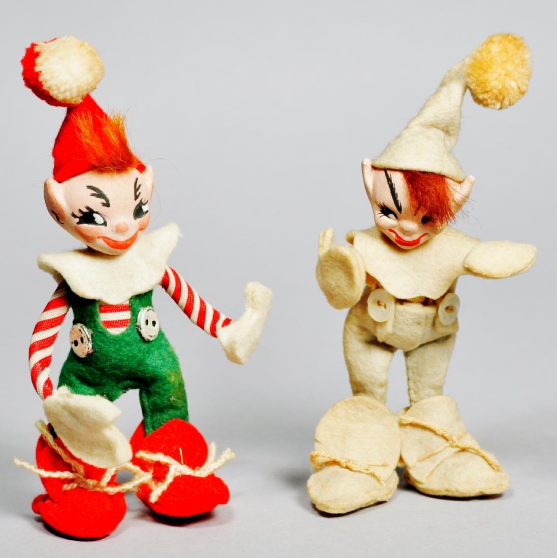 1940s Whimsie Inc Jump Jump Elf Pair