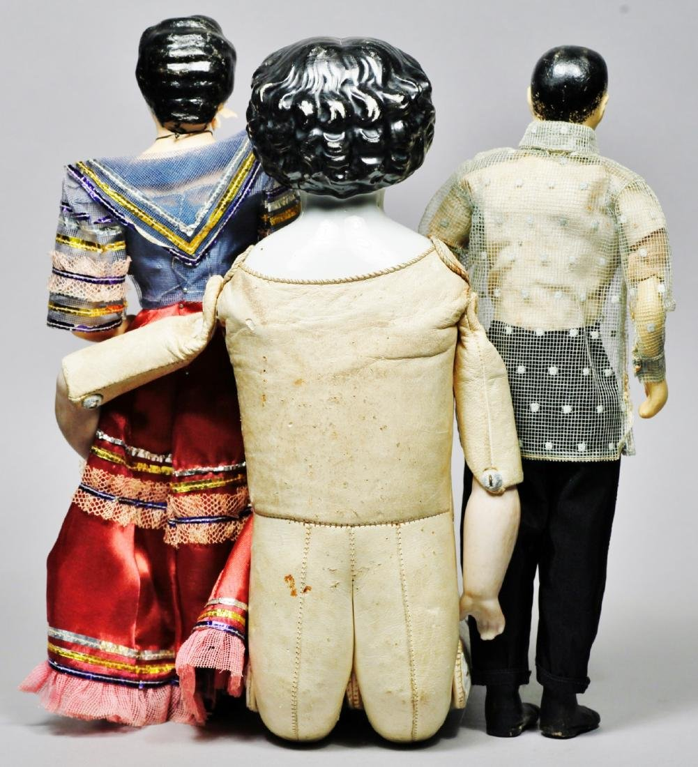Antique China Head Doll, pair of Phillipines Couple - 2