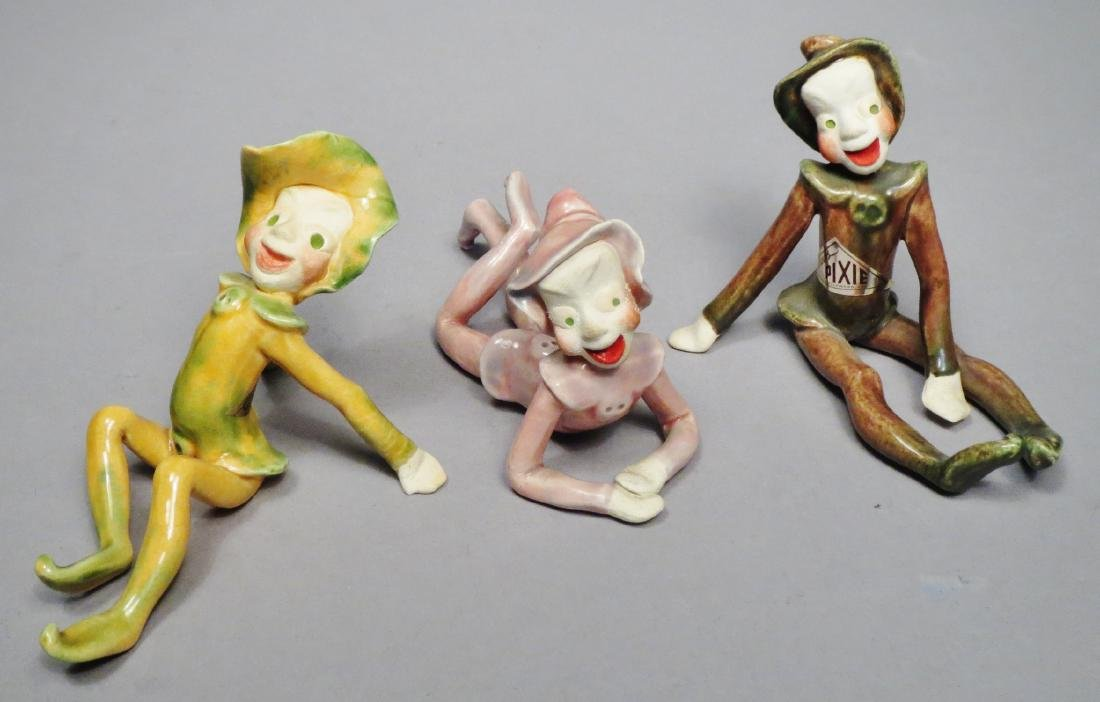 Vintage Lot, Drews Pixie Figurines - 6