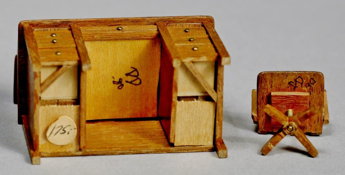 Artist signed dollhouse furniture lot - 3