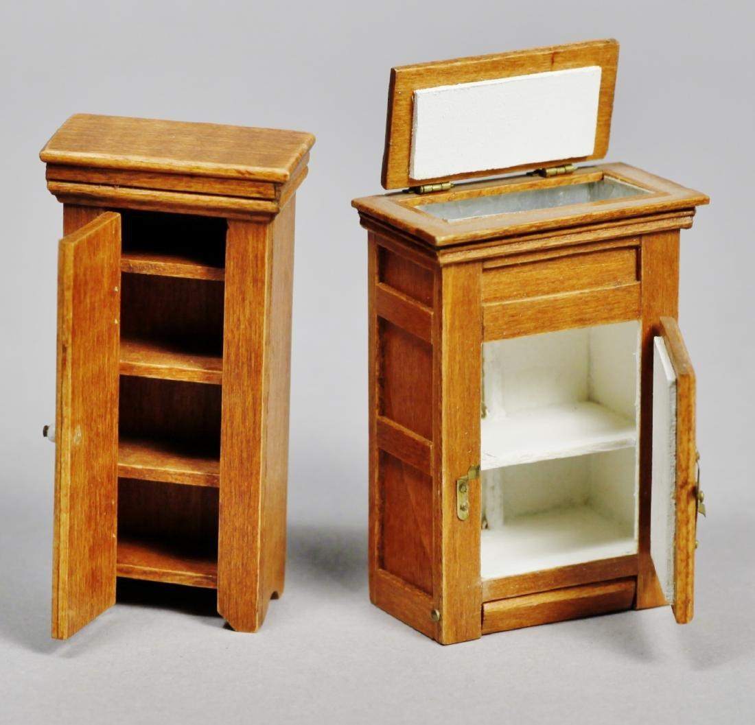 Signed dollhouse &  miniature furniture Joanne Egon PLU