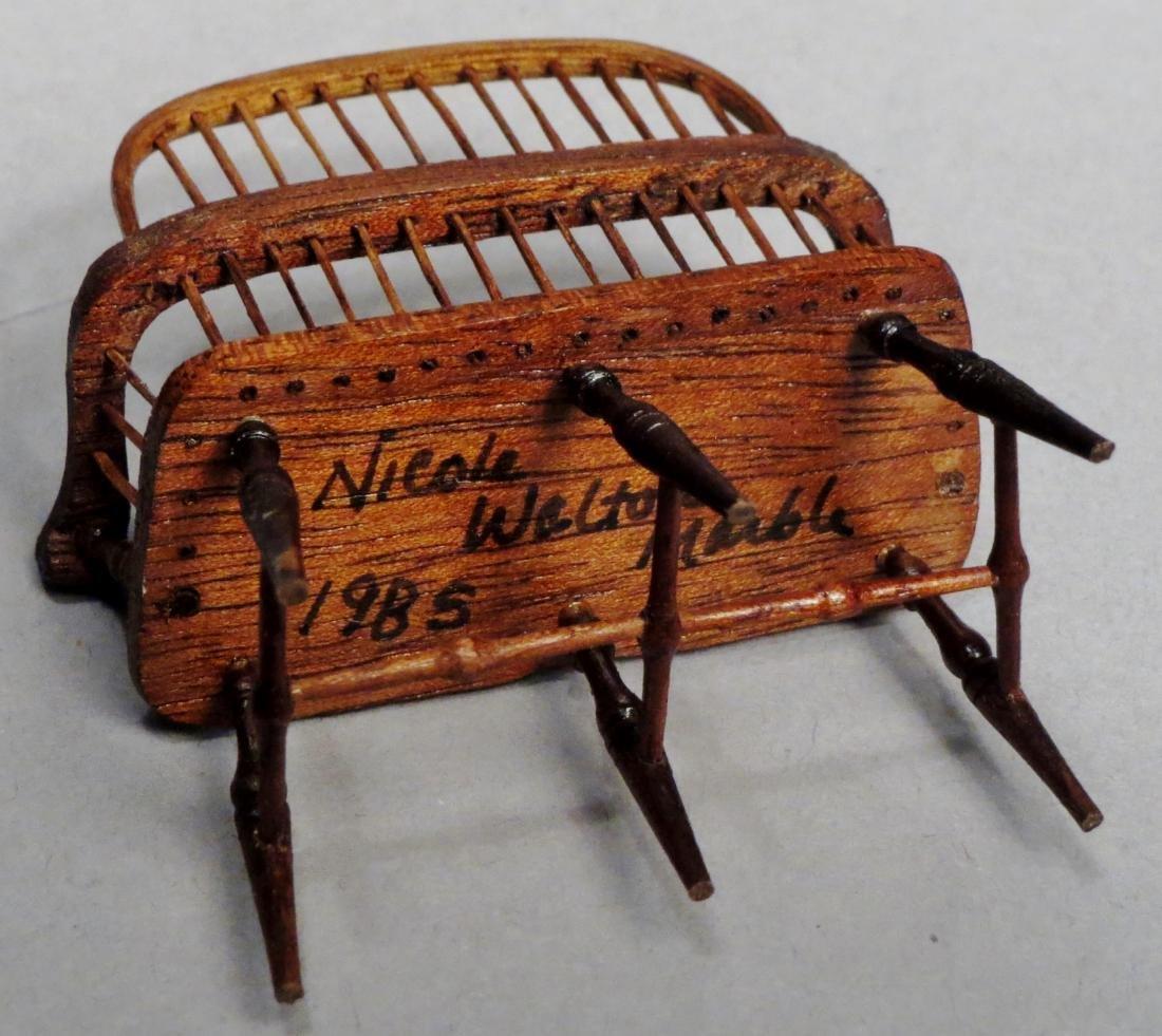 Nicole Walton Marble Windsor Bench, Dollhouse - 3