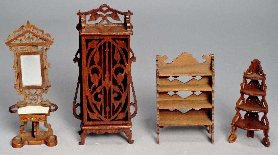 Vintage Art Nouveau Style Dollhouse Furniture SIGNED