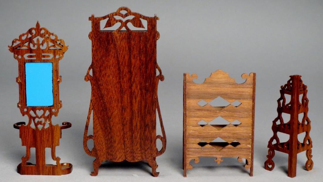 Vintage Art Nouveau Style Dollhouse Furniture SIGNED - 2