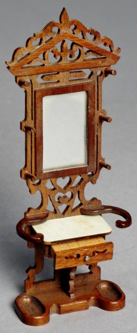 Vintage Art Nouveau Style Dollhouse Furniture SIGNED - 7