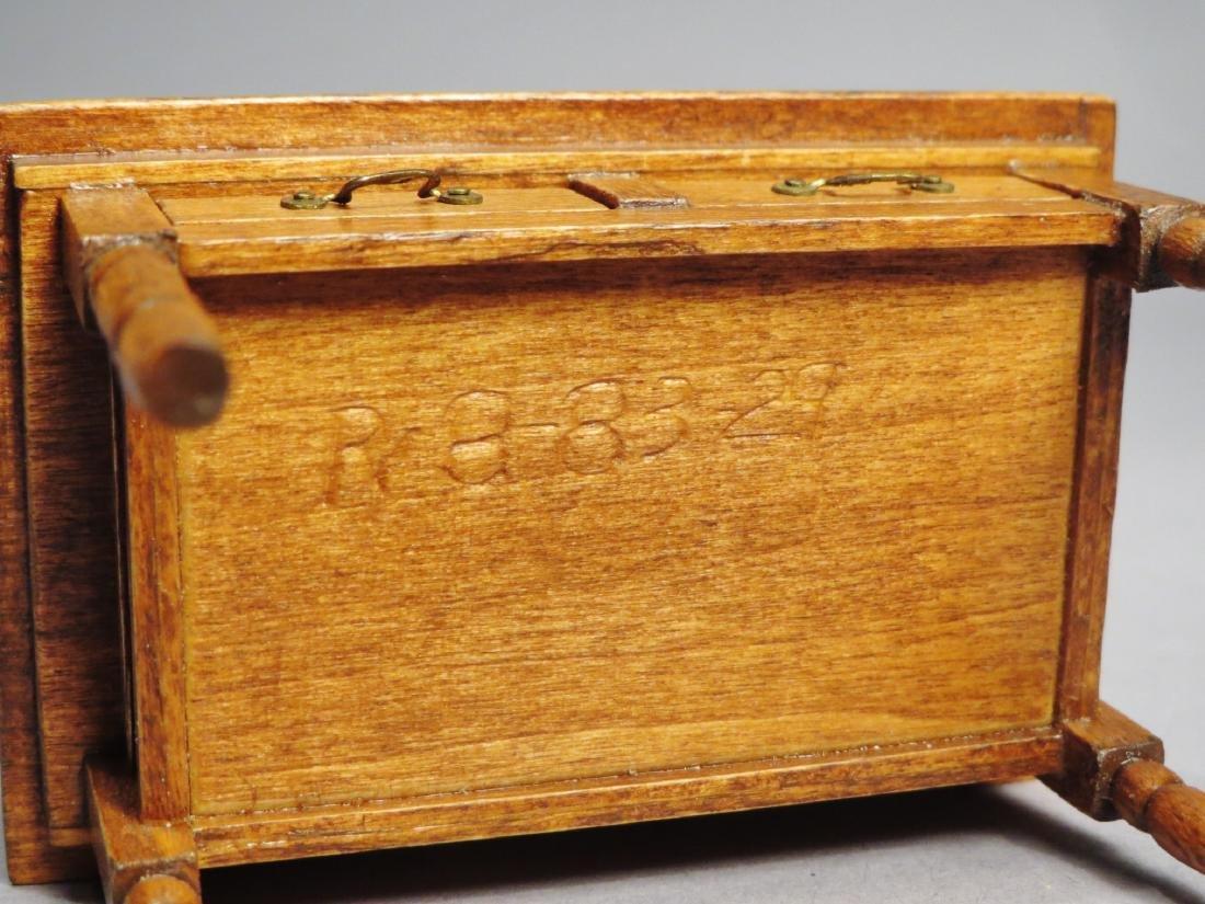Dollhouse Miniature Designer Furniture Artist Signed - 6