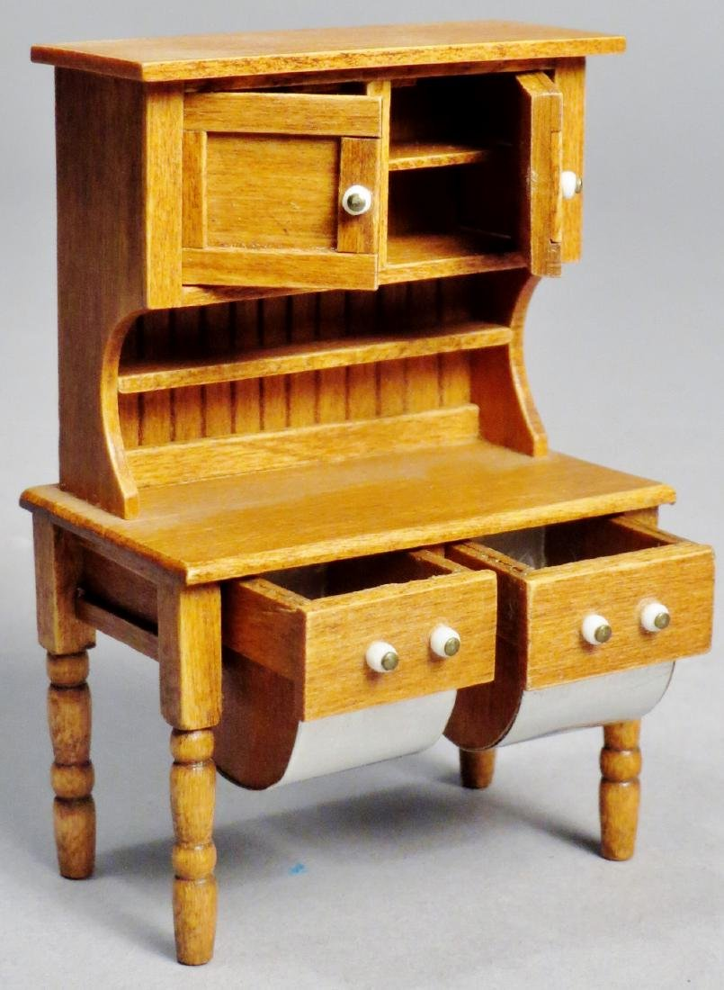 Dollhouse Miniature Designer Furniture Artist Signed - 7