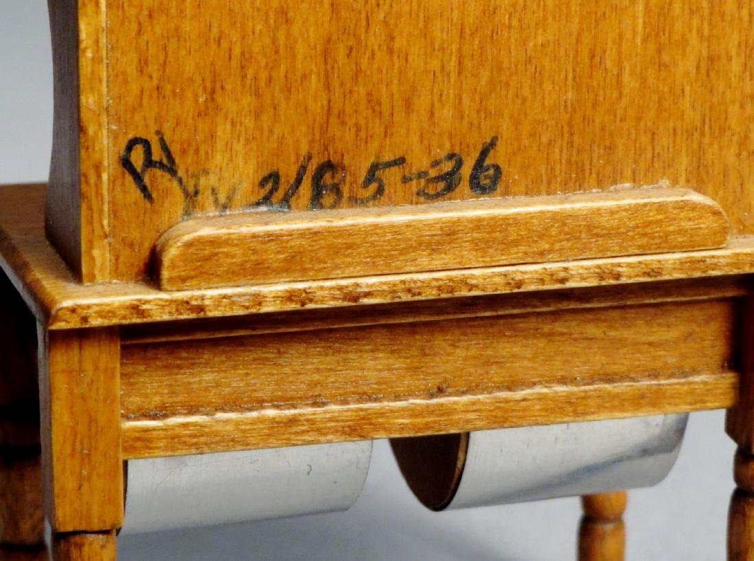 Dollhouse Miniature Designer Furniture Artist Signed - 8