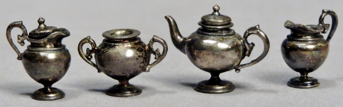 Sterling Dollhouse Miniature Tea Set by Acquisto