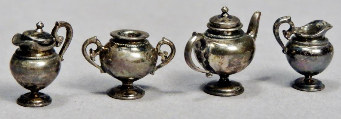 Sterling Dollhouse Miniature Tea Set by Acquisto - 2