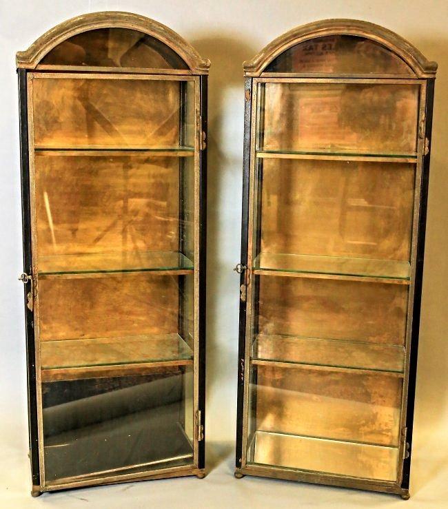 Pair Of Vintage Italian Hanging Vitrines Display Cases