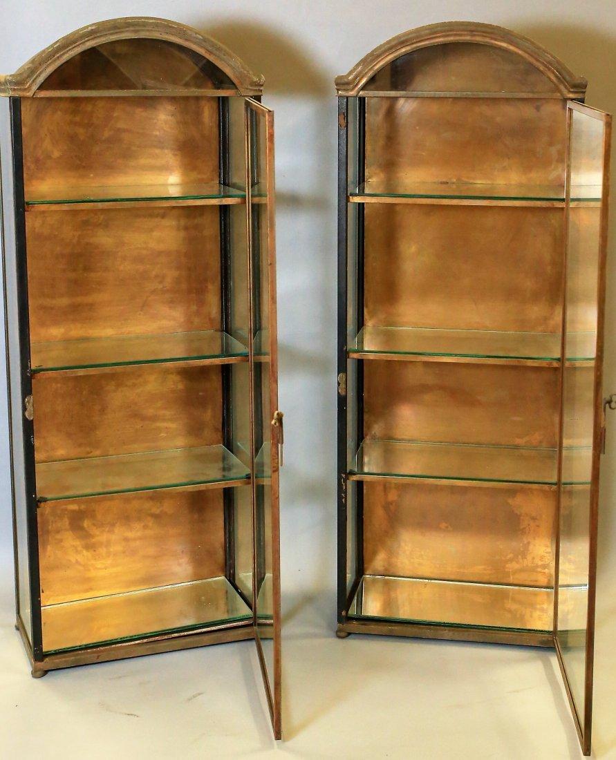 Pair Of Vintage Italian Hanging Vitrines Display Cases - 2