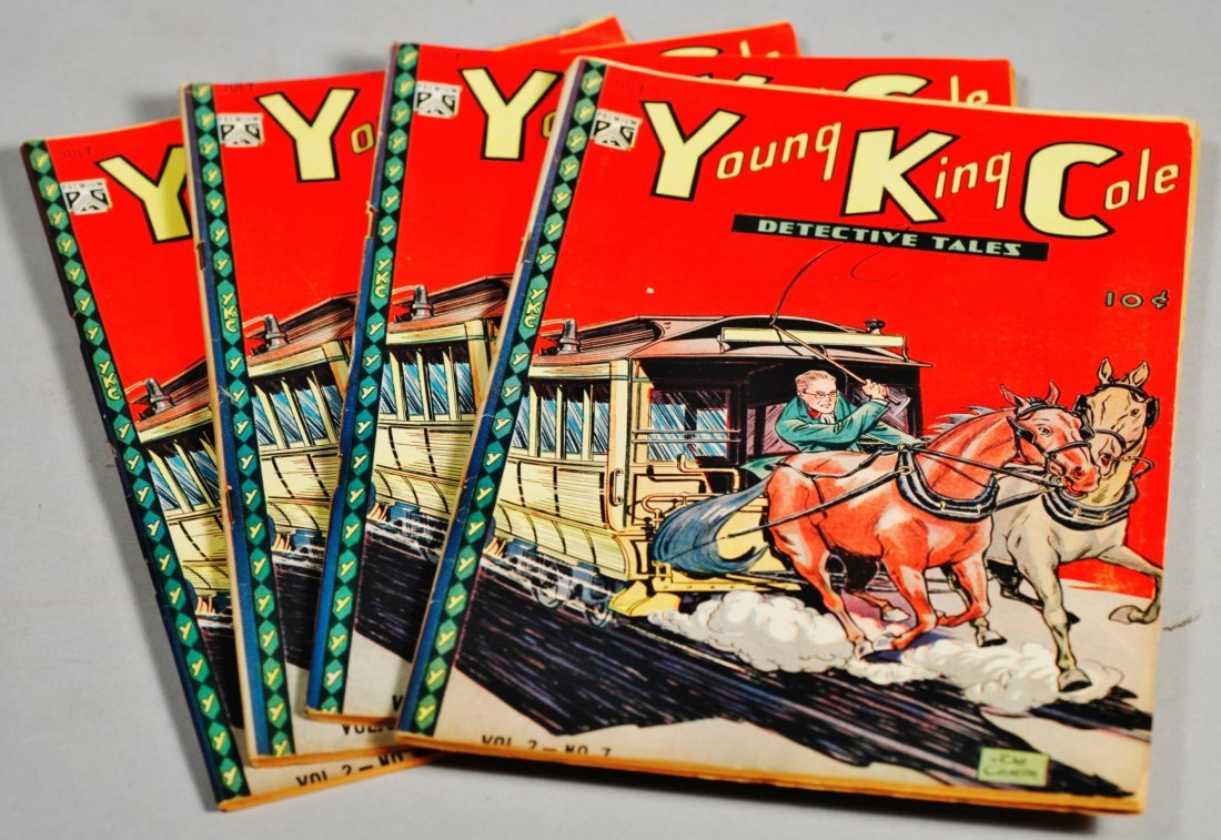 Lot of 4 Young King Cole Detective Tales Comics