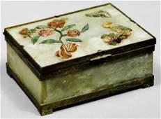 Antique Chinese Jade Trinket Box