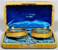 Victorian 14k Gold Cuff Bracelets in Original Box