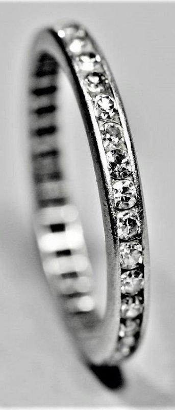 Vintage 1/2ct Tiffany Style Plat. Diamond Eternity Band