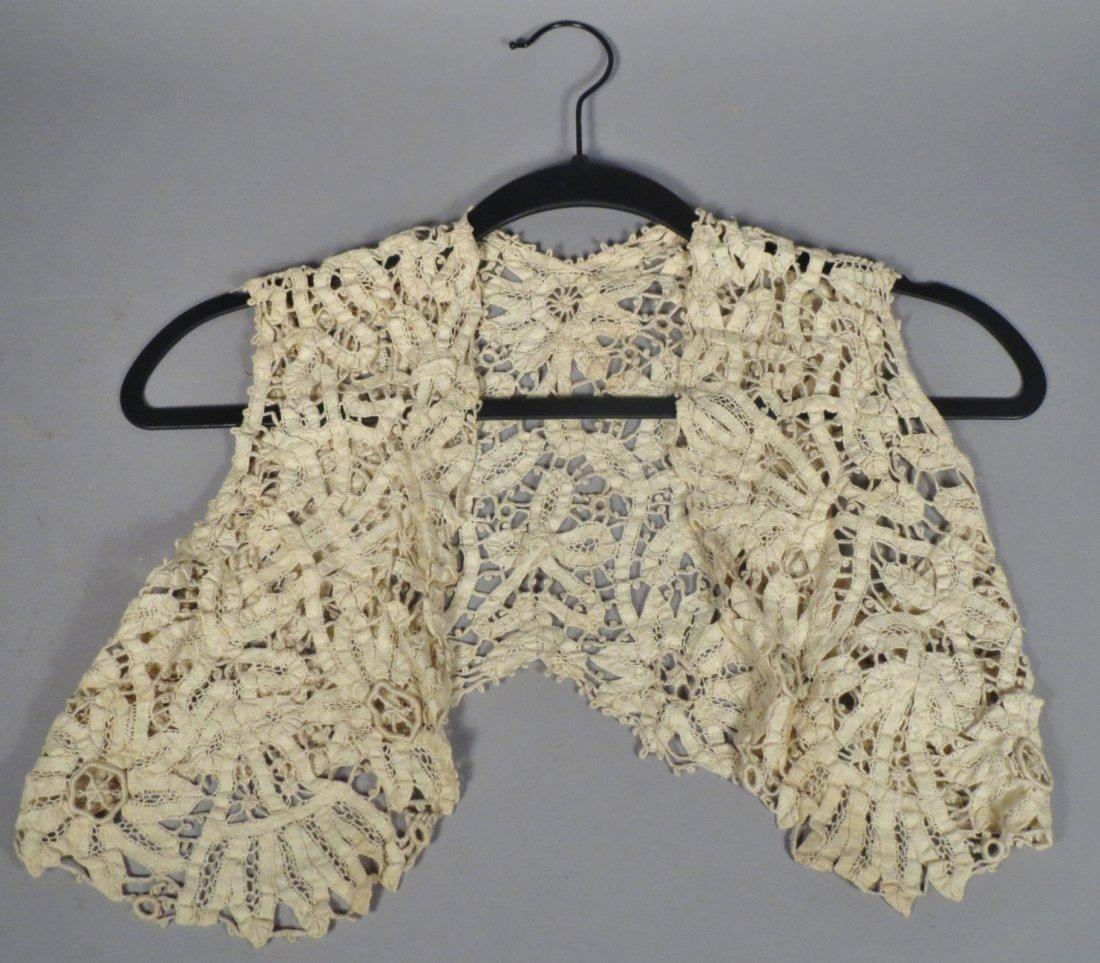Battenburg lace vest - 2