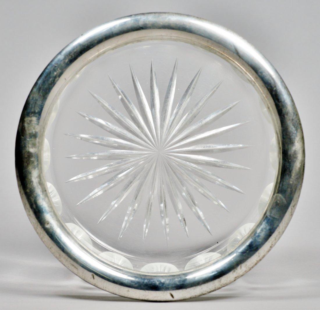 Elegant Silver & Faceted Glass Bowl 835 - 2